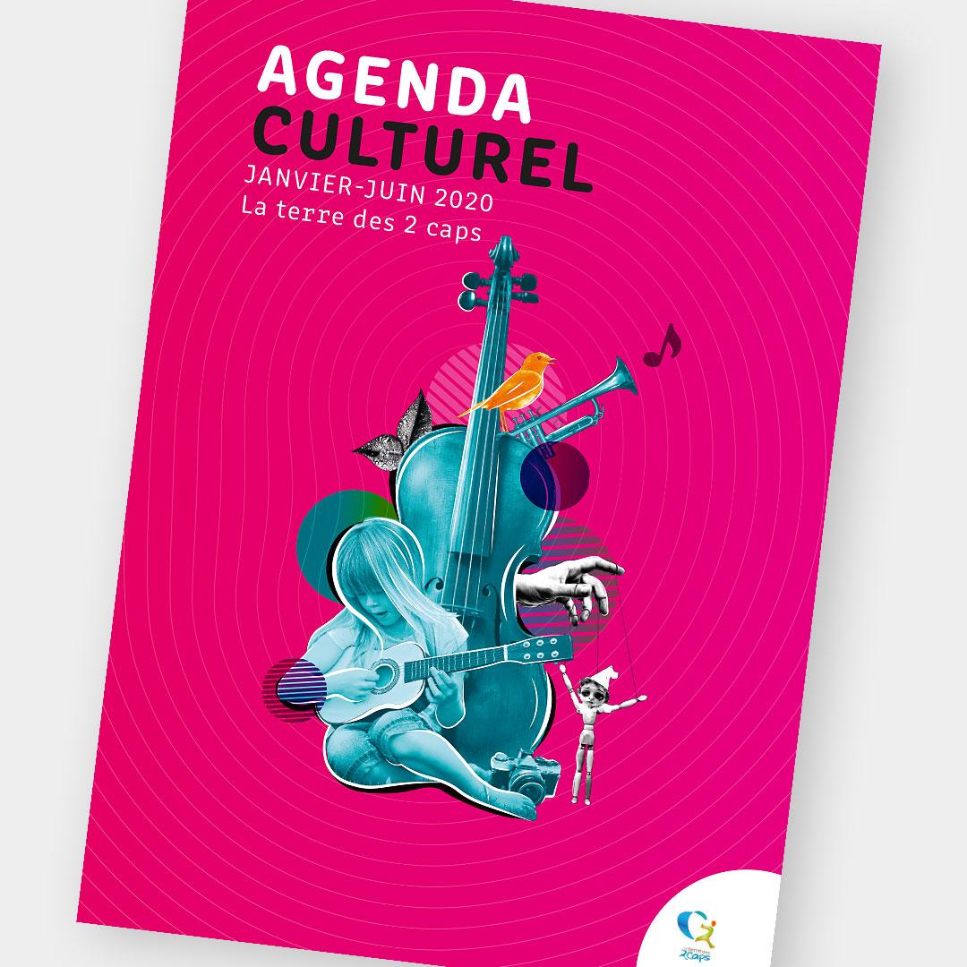 Creation de brochure agenda culturel